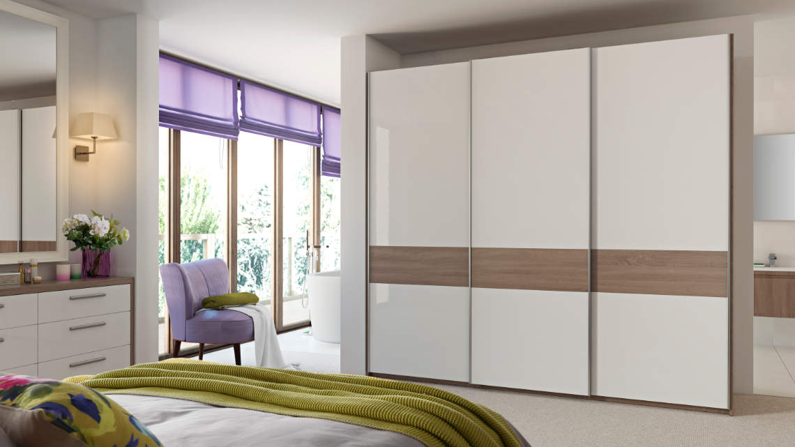 sliding wardrobe with letterbox design style