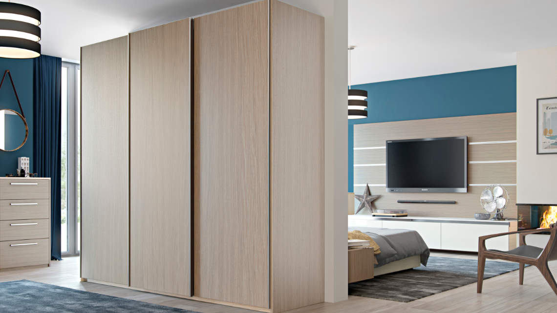 sliding wardrobe with full height design style