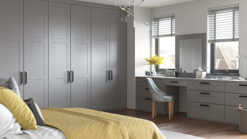 modern shaker bedroom wardrobes