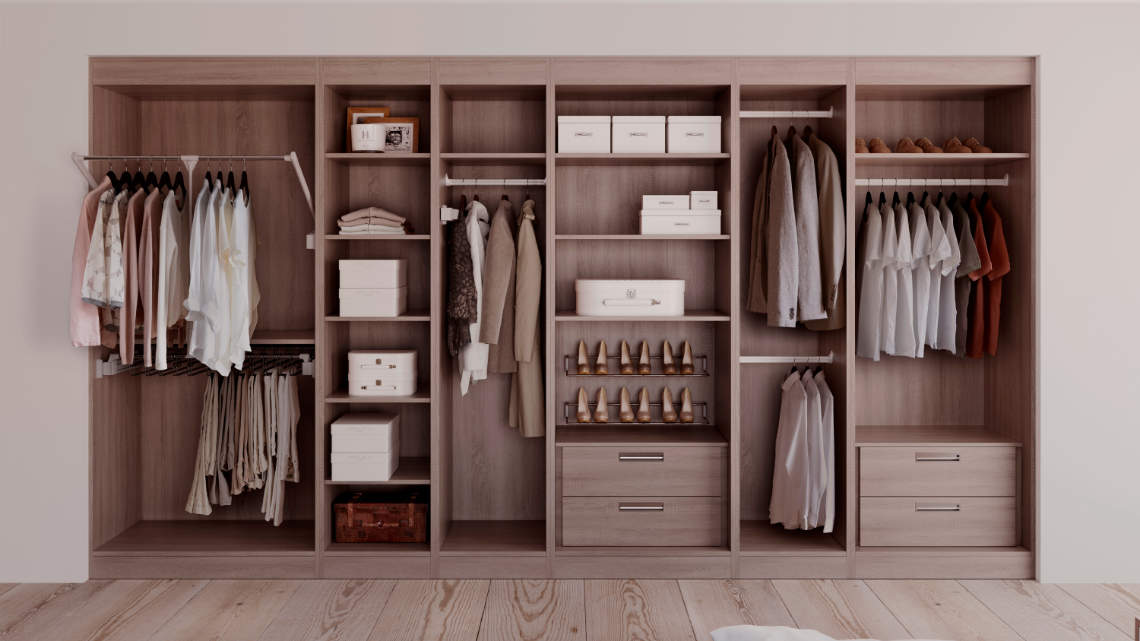 made to measure wardrobe with custom storage solutions