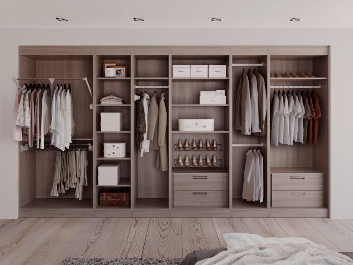Bedroom wardrobe storage solutions