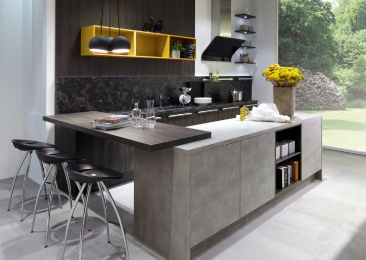 Pronorm ClassicLine in Cement Grey and Oak Sepia