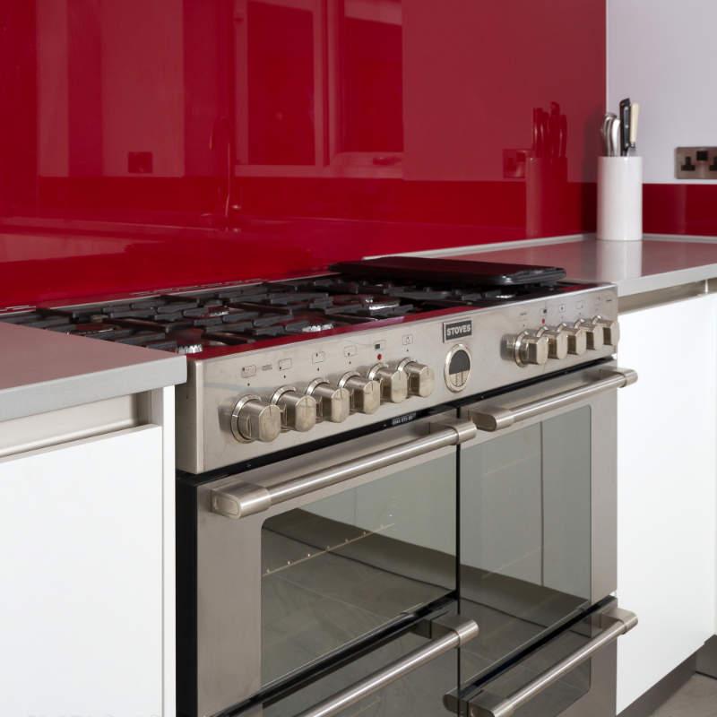 Modern German kitchen in white