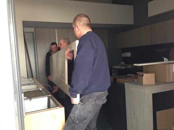 installing Silestone worktop