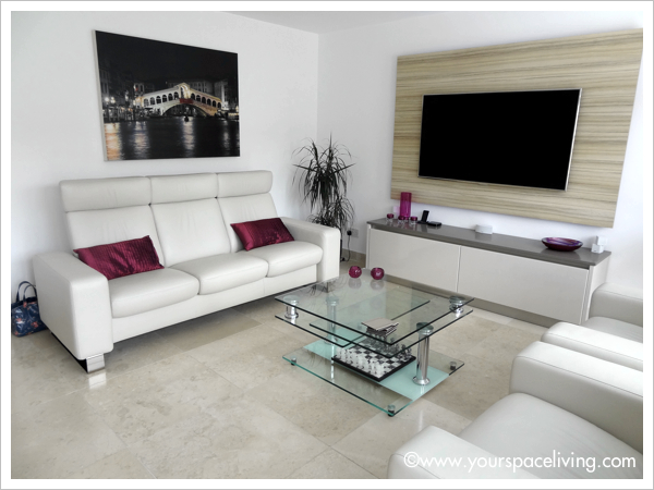 open plan television area