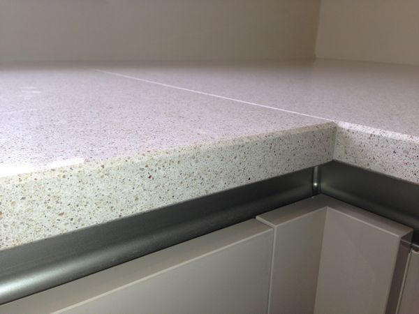 Contemporary schuller kitchen in llantwit major - Silestone blanco city ...