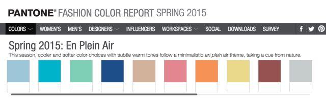 Pantone fashion colour report spring 2015