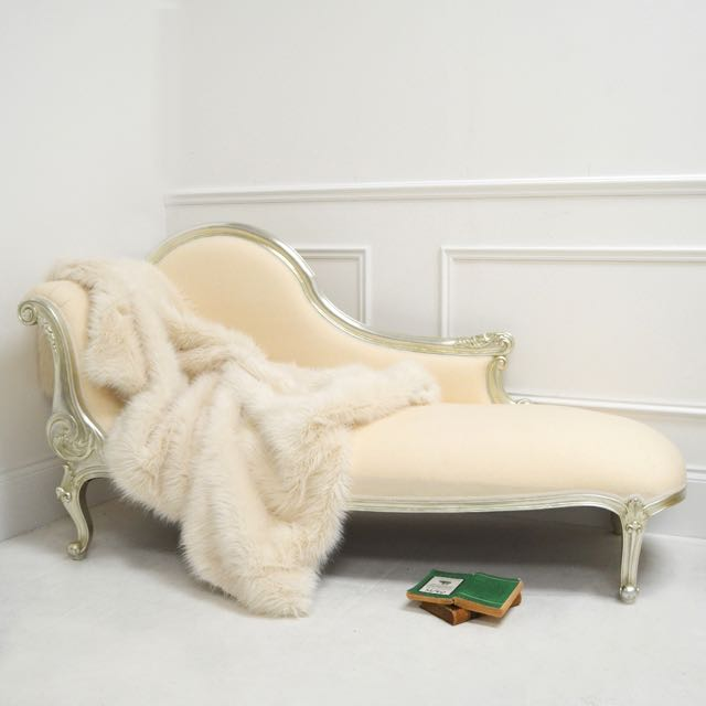 Genoa Cream Fur Throw from Sweetpea & Willow