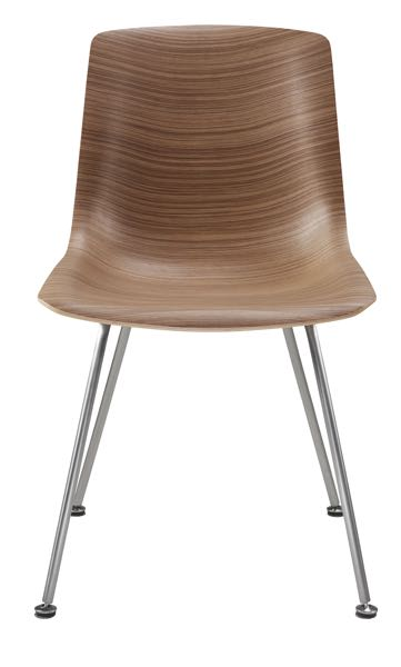 Retro steel and veneer chair