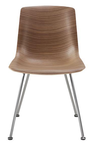 Retro steel and veneer chair
