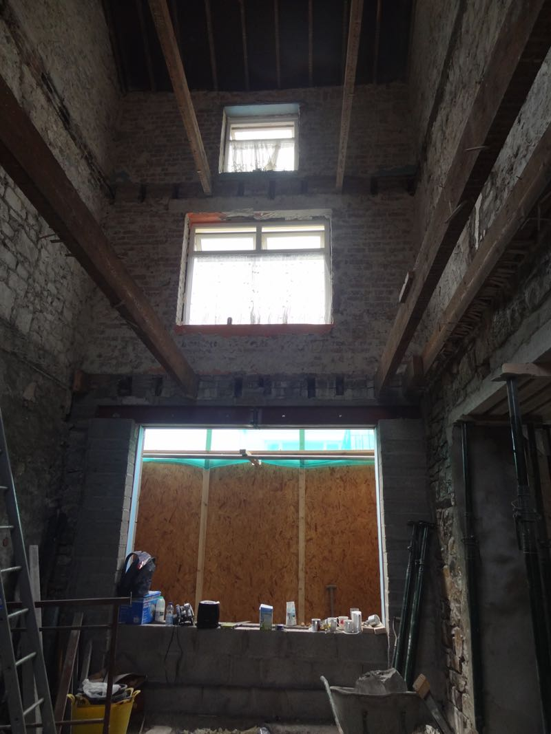 removed all floors in llantwit major house renovation