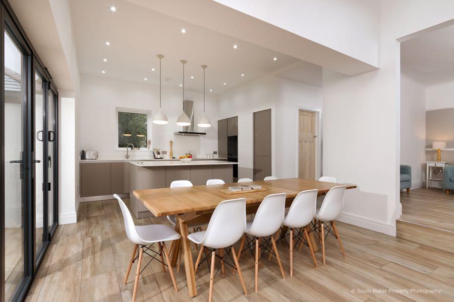 open plan schuller kitchen in cardiff