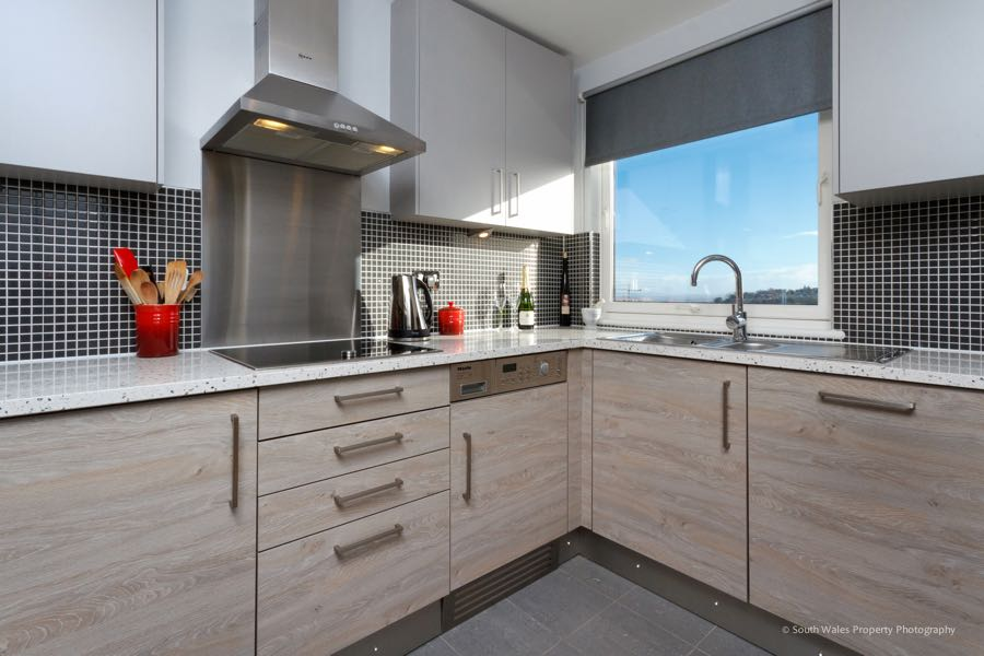 compact schuller kitchen in cardiff