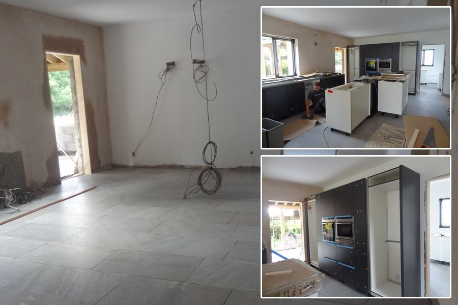 Schuller kitchen installation pictures in South Wales