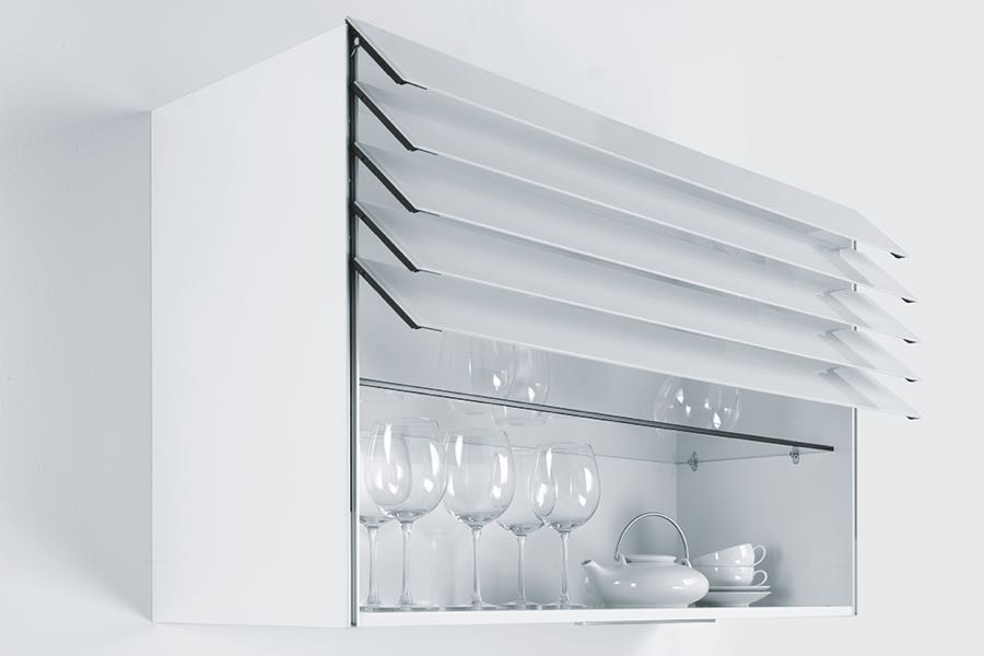 Schuller's automatic glass cabinet