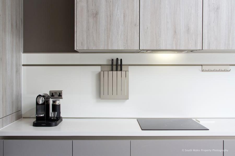 Schuller panel system in Penarth kitchen