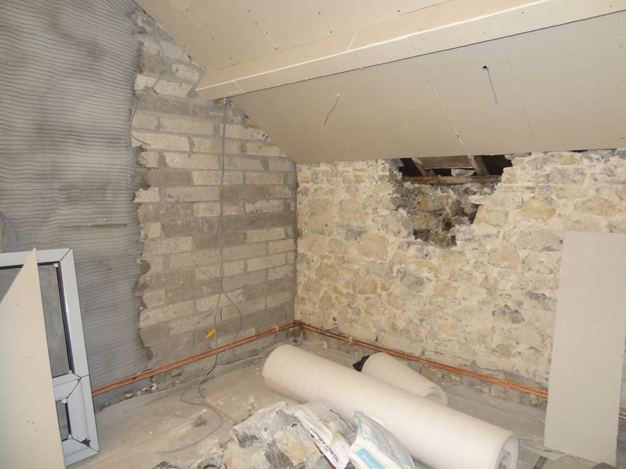 building work and new kitchen