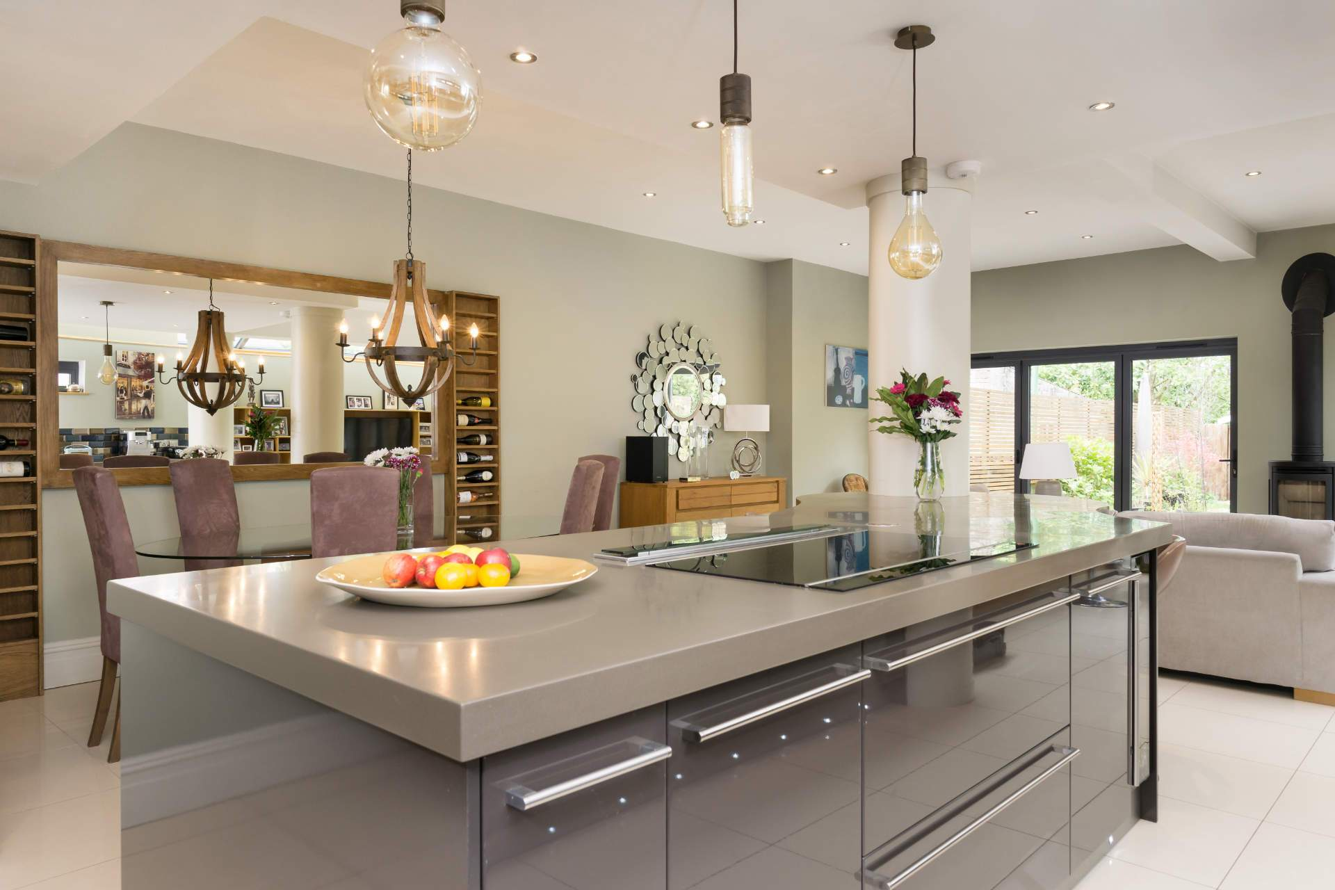 Amazing kitchen island with Corian worktop