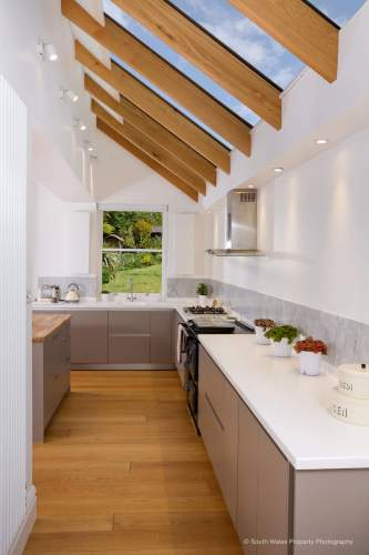 Galley style kitchen