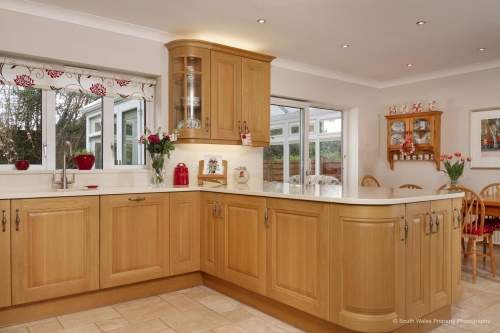 Traditional cabinets with curves