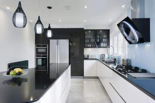 Contemporary kitchen with clean lines
