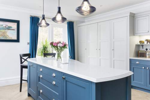 Marine Blue kitchen island