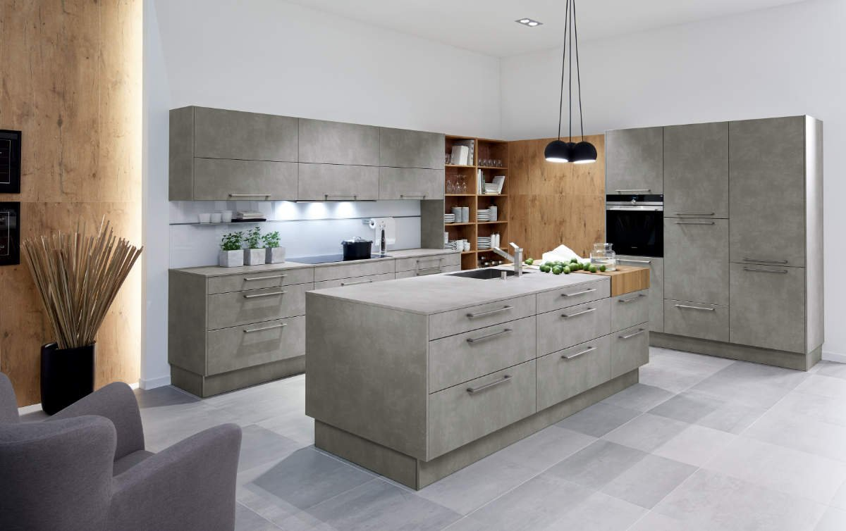 Pronorm Cement Grey kitchen