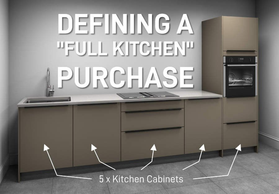 defining a full kitchen purchase