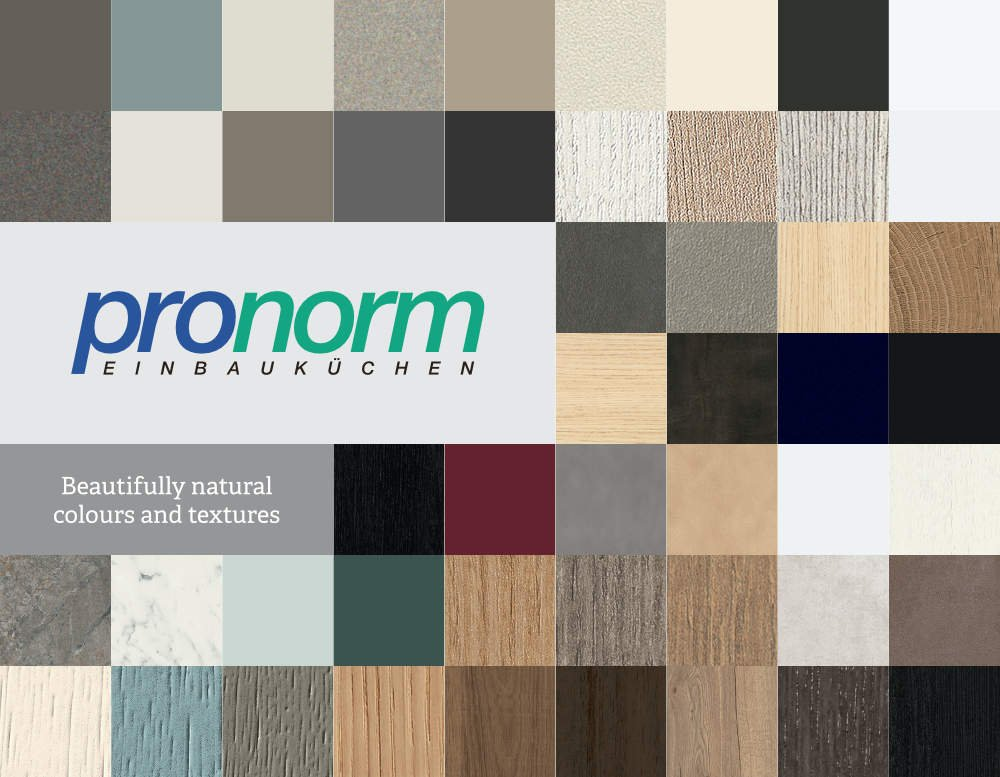 Pronorm colours