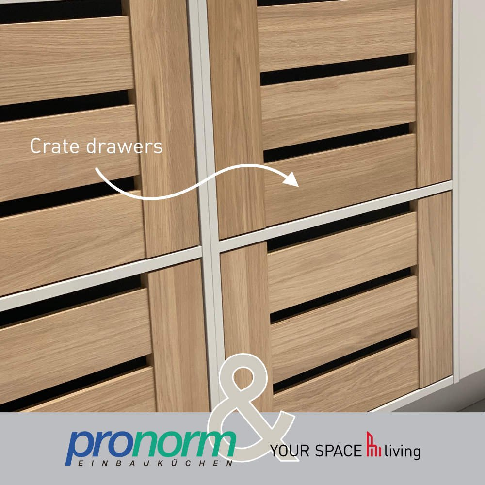 Pronorm crate drawers