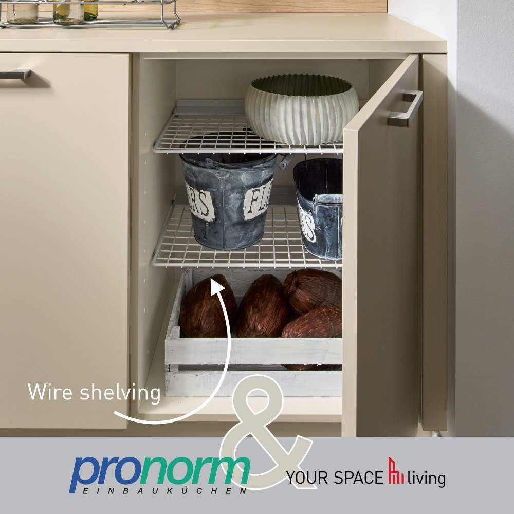 Pronorm wire shelves